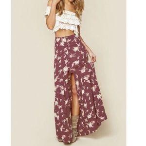 Flynn Skye Unbutton Me Floral Skirt